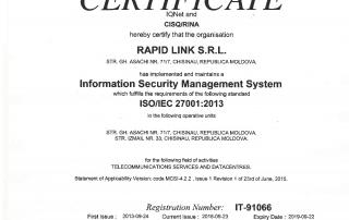 Declaratia de politica în domeniul securității informaționale
