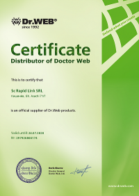 certificate Dr. Web